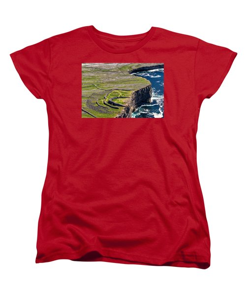 Women's T-Shirt (Standard Cut) featuring the photograph Cliffs Of Inishmoore by Juergen Klust