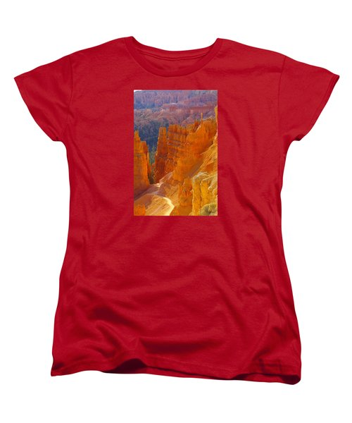 climbing out of the Canyon Women's T-Shirt (Standard Cut) by Jeff Swan