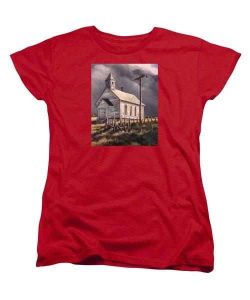 Closed On Sundays Women's T-Shirt (Standard Cut) by Donna Tucker
