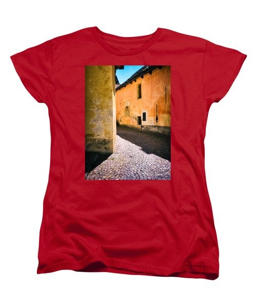Women's T-Shirt (Standard Cut) featuring the photograph Cobbled Street by Silvia Ganora