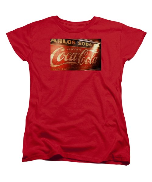 Women's T-Shirt (Standard Cut) featuring the photograph Coca Cola Sign by Rodney Lee Williams