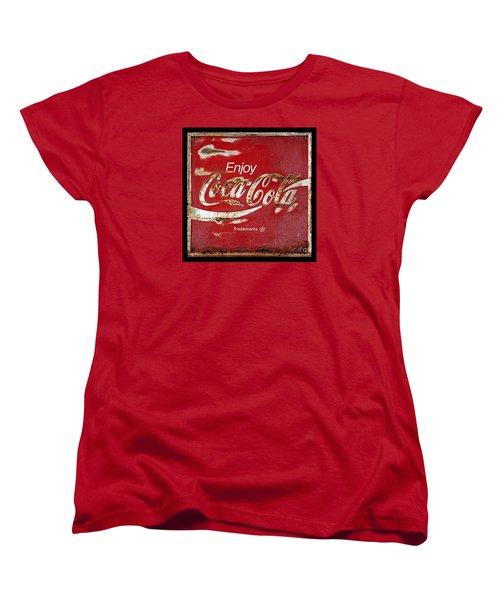 Coca Cola Vintage Rusty Sign Women's T-Shirt (Standard Cut)