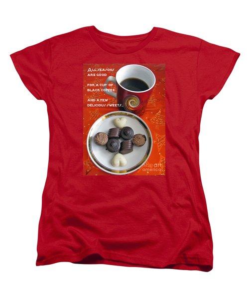 Women's T-Shirt (Standard Cut) featuring the photograph Coffee Season by Ausra Huntington nee Paulauskaite