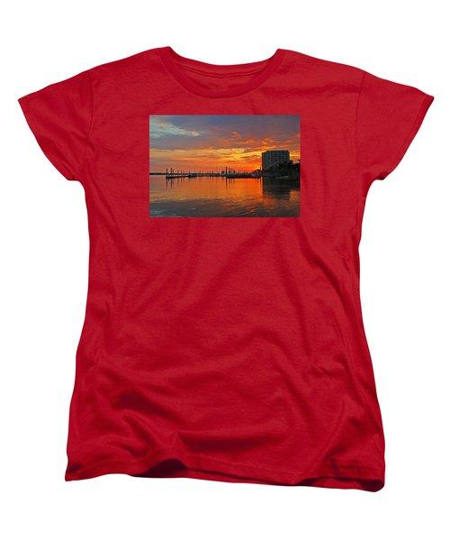 Women's T-Shirt (Standard Cut) featuring the digital art Colbalt Morning by Michael Thomas
