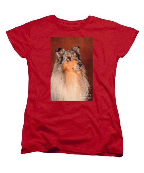 Women's T-Shirt (Standard Cut) featuring the photograph Collie Portrait by Randi Grace Nilsberg