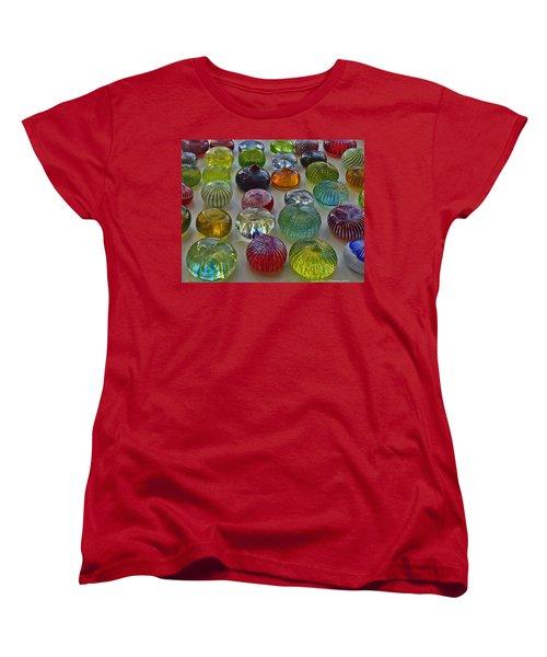 Women's T-Shirt (Standard Cut) featuring the photograph Color Dots by Leena Pekkalainen