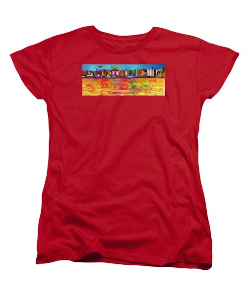 Colorful Coney Island Women's T-Shirt (Standard Cut) by Lilliana Mendez