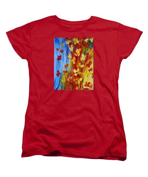 Colorful World Women's T-Shirt (Standard Cut) by Teresa Wegrzyn