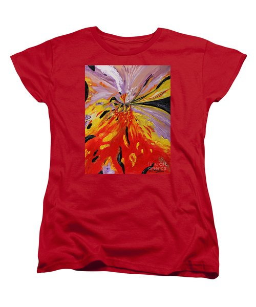 Colourburst Women's T-Shirt (Standard Cut) by Loredana Messina
