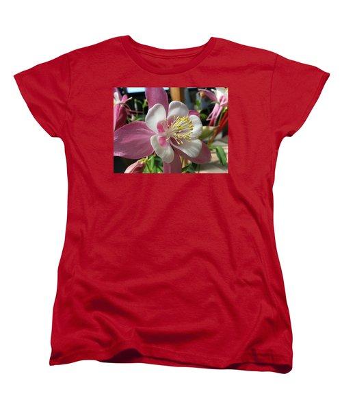 Women's T-Shirt (Standard Cut) featuring the photograph Columbine by Caryl J Bohn