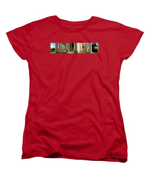 Columns Of A Memorial, Jefferson Women's T-Shirt (Standard Cut) by Panoramic Images