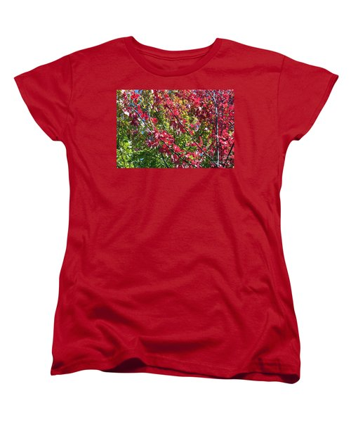 Women's T-Shirt (Standard Cut) featuring the photograph Complimentary Colors by Debbie Hart