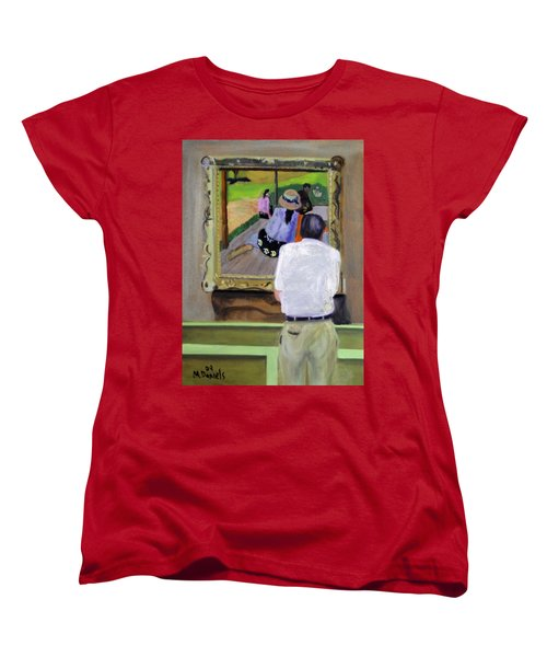 Women's T-Shirt (Standard Cut) featuring the painting Contemplating Gauguin by Michael Daniels