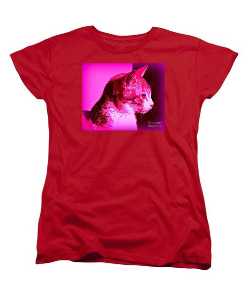 Women's T-Shirt (Standard Cut) featuring the photograph Cool Cat by Clare Bevan