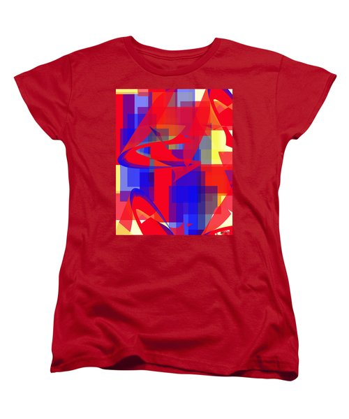 Women's T-Shirt (Standard Cut) featuring the digital art Copter Sunrise by Stephanie Grant