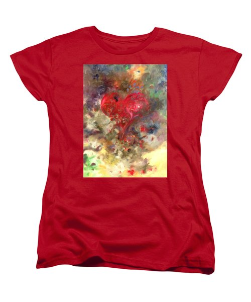 Corazon Women's T-Shirt (Standard Cut) by Julio Lopez