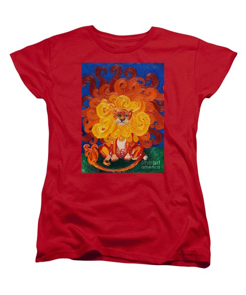 Cosmic Lion Women's T-Shirt (Standard Cut) by Cassandra Buckley