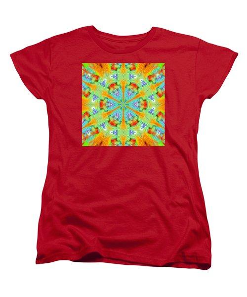 Cosmic Spiral Kaleidoscope 41 Women's T-Shirt (Standard Cut) by Derek Gedney