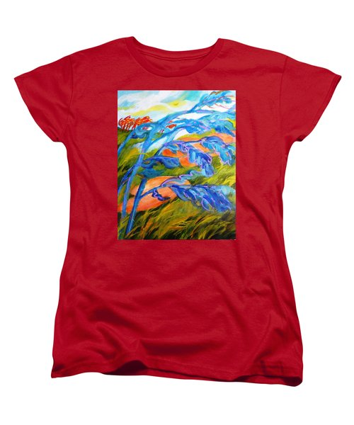 Count The Wind Women's T-Shirt (Standard Cut) by Betty M M   Wong
