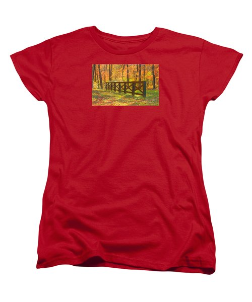 Women's T-Shirt (Standard Cut) featuring the photograph Country Fence by Geraldine DeBoer