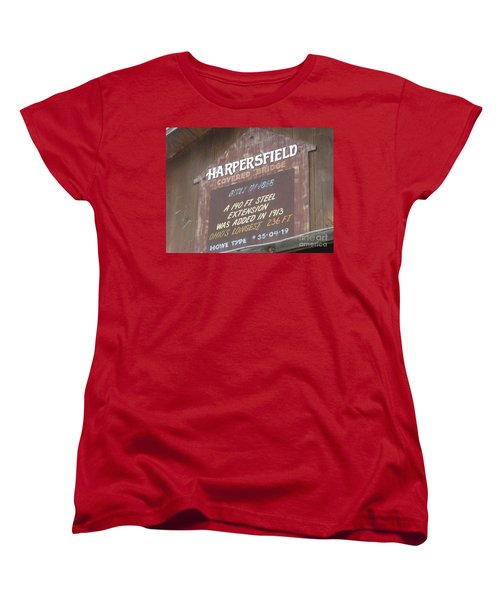 Women's T-Shirt (Standard Cut) featuring the photograph Covered Bridge  by Michael Krek