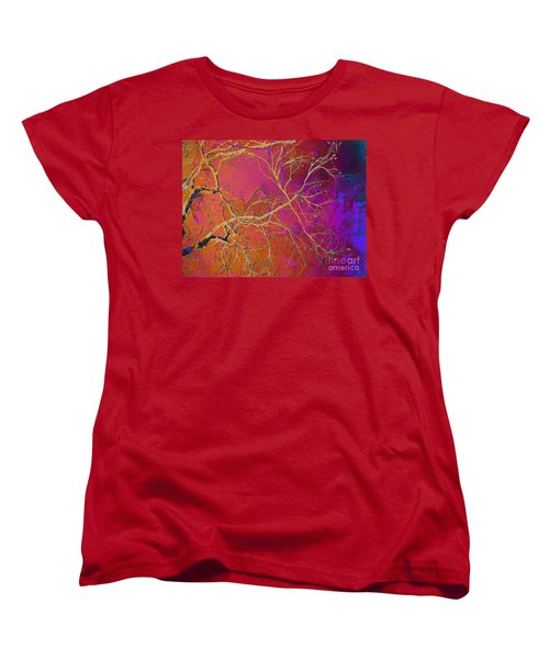 Crackling Branches Women's T-Shirt (Standard Cut) by Meghan at FireBonnet Art