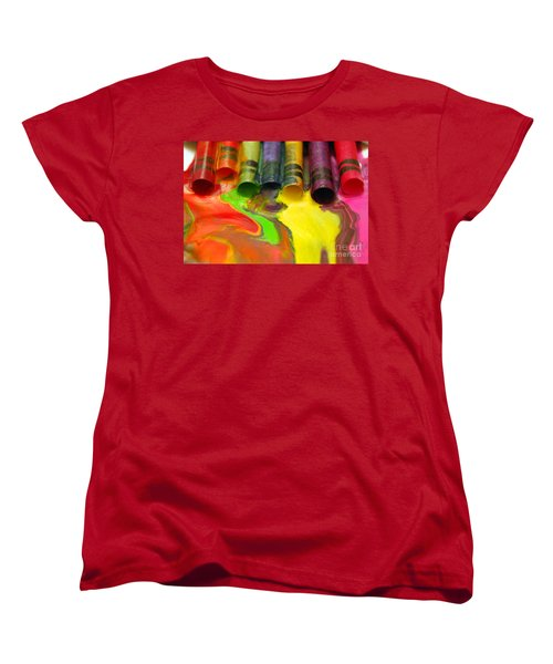 Crayon Cooperation Women's T-Shirt (Standard Cut) by Margie Chapman