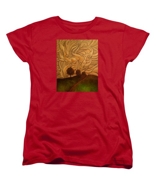 Crazy Sky Women's T-Shirt (Standard Cut) by John Stuart Webbstock