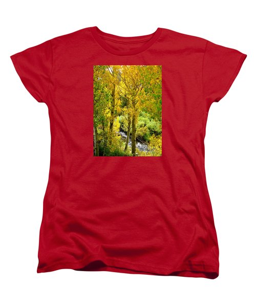 Women's T-Shirt (Standard Cut) featuring the photograph Creekside by Marilyn Diaz