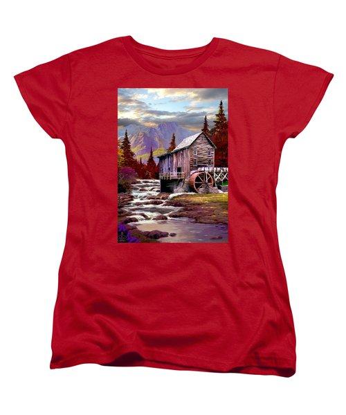 Creekside Mill Women's T-Shirt (Standard Cut) by Ron Chambers
