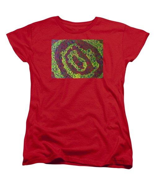 Women's T-Shirt (Standard Cut) featuring the painting Crying Rocks by Jonathon Hansen