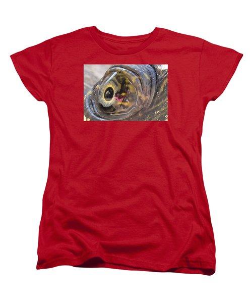 Women's T-Shirt (Standard Cut) featuring the photograph Curious Pup by Charlotte Schafer