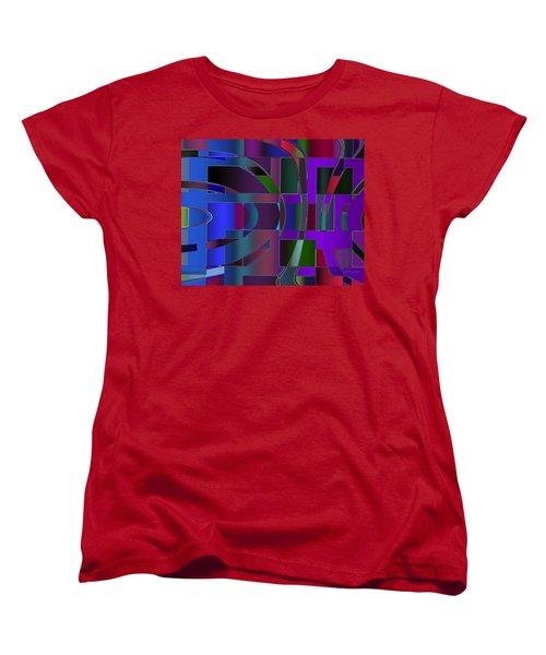 Curves And Trapezoids 2 Women's T-Shirt (Standard Cut) by Judi Suni Hall