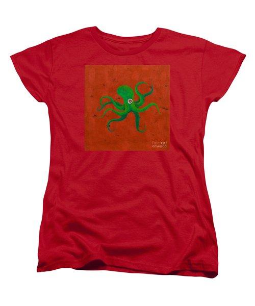 Cycloptopus Red Women's T-Shirt (Standard Cut) by Stefanie Forck