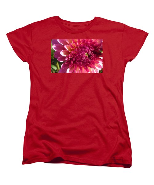 Women's T-Shirt (Standard Cut) featuring the photograph Dahlia Pink 1 by Susan Garren
