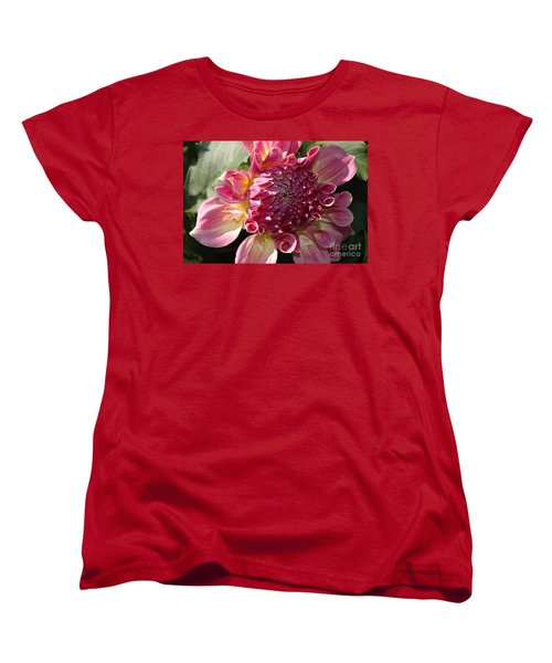 Women's T-Shirt (Standard Cut) featuring the photograph Dahlia V by Christiane Hellner-OBrien