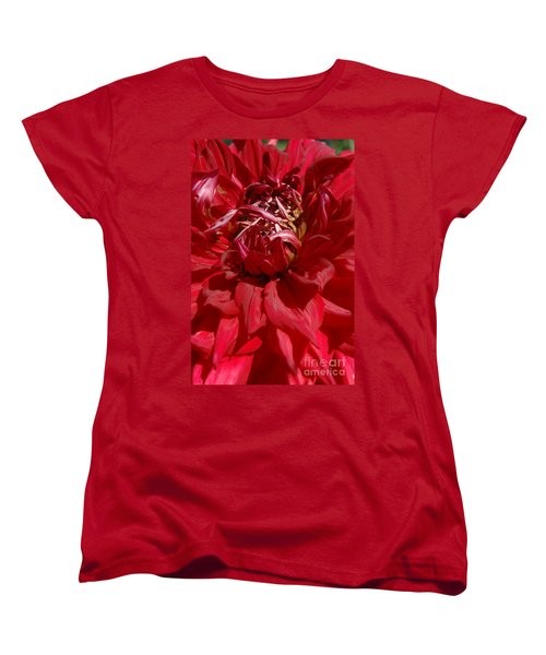 Women's T-Shirt (Standard Cut) featuring the photograph Dahlia Viiii by Christiane Hellner-OBrien