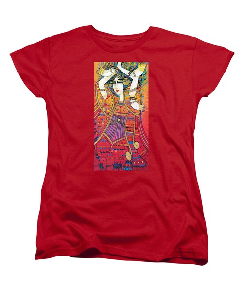 Dancer With Doves Women's T-Shirt (Standard Cut)