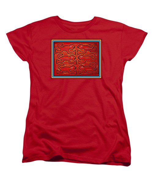 Women's T-Shirt (Standard Cut) featuring the digital art Dancing Geckos by Vagabond Folk Art - Virginia Vivier