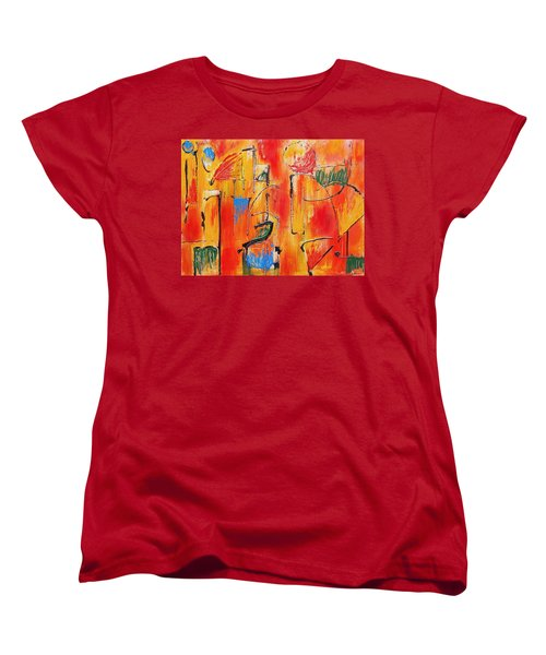 Women's T-Shirt (Standard Cut) featuring the painting Dancing In The Heat by Jason Williamson