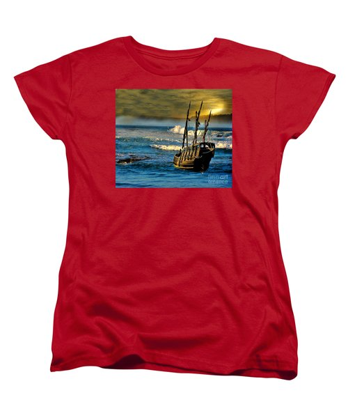 Dangerous Waters Women's T-Shirt (Standard Cut) by Blair Stuart