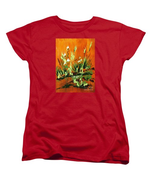 Women's T-Shirt (Standard Cut) featuring the painting Darlinettas by Holly Carmichael