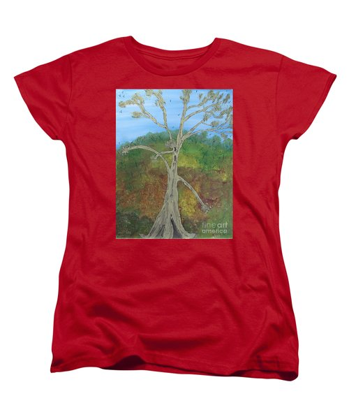 Dash The Running Tree Women's T-Shirt (Standard Cut)