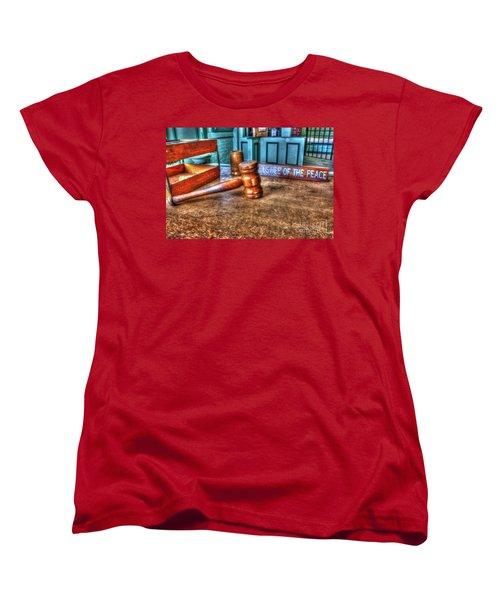 Dealing Justice Women's T-Shirt (Standard Cut) by Dan Stone
