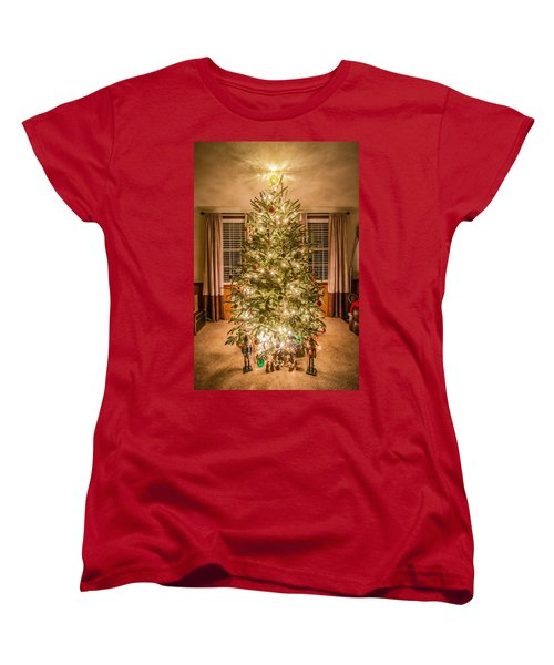 Women's T-Shirt (Standard Cut) featuring the photograph Decorated Christmas Tree by Alex Grichenko
