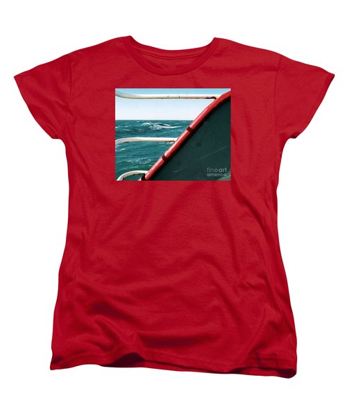 Women's T-Shirt (Standard Cut) featuring the photograph Deep Blue Sea Of The Gulf Of Mexico Off The Coast Of Louisiana Louisiana by Michael Hoard