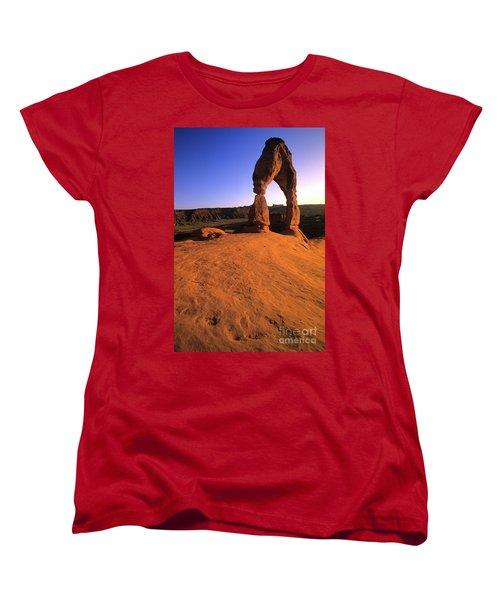 Delicate Arch Women's T-Shirt (Standard Cut) by Bob Christopher