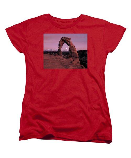 Delicate Arch Women's T-Shirt (Standard Cut) by Leland D Howard