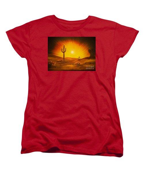 Desert Aglow Women's T-Shirt (Standard Cut) by Becky Lupe