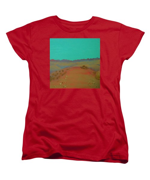Women's T-Shirt (Standard Cut) featuring the painting Desert Overlook by Keith Thue